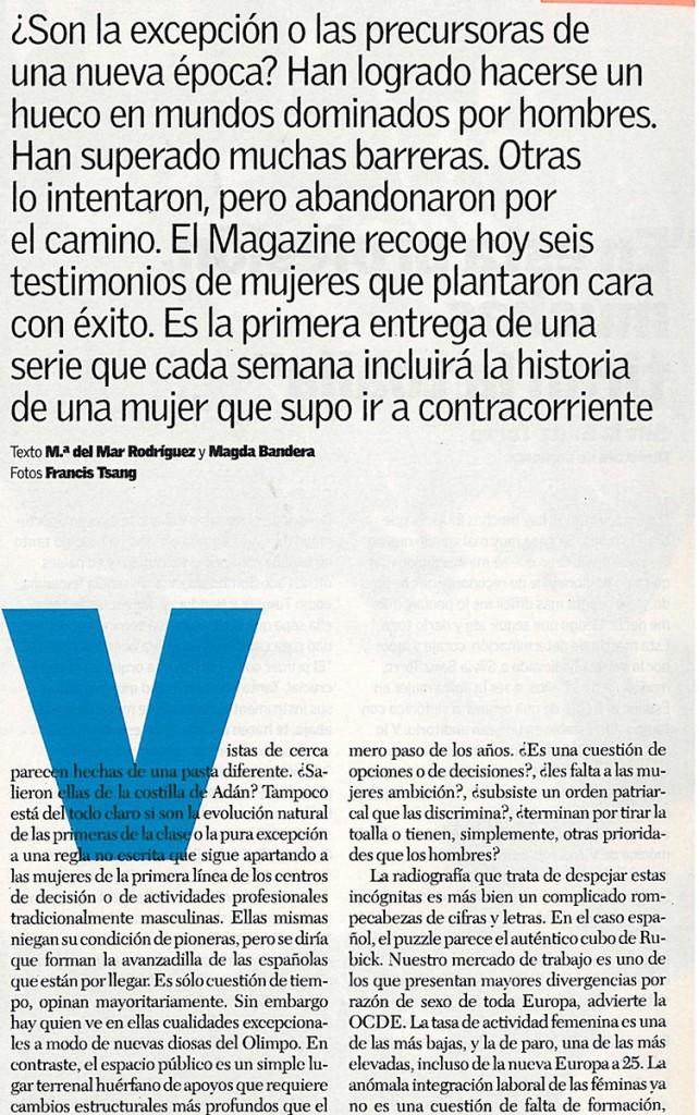 Magazine Mujeres en primera linea Blanca Lleó 01