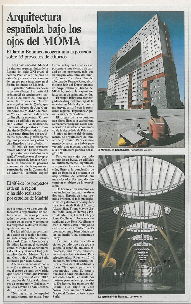 Arquitectura española bajo los ojos del moma 01